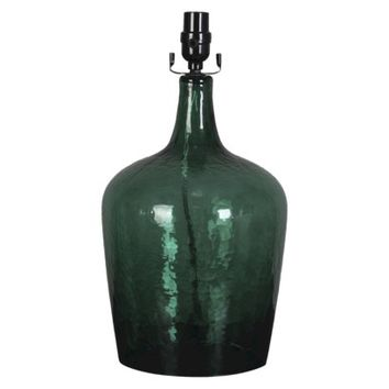 Threshold™ Artisan Glass Lamp Base - Green Large (Includes CFL Bulb)