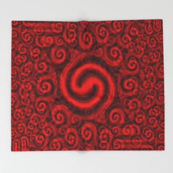 Red Christmas Decoration #5 Throw Blanket by Moonshine Paradise