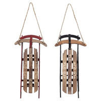 "Asst. of 2 8"" Wooden Sled Ornaments, Ornaments"