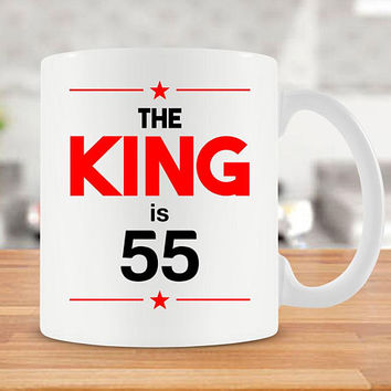 55th Birthday Gift Ideas For Men Birthday Mug 55th Bday Gift Birthday Coffee Cup Bday Present For Him 55 Birthday Gift Ceramic Mug - BG244
