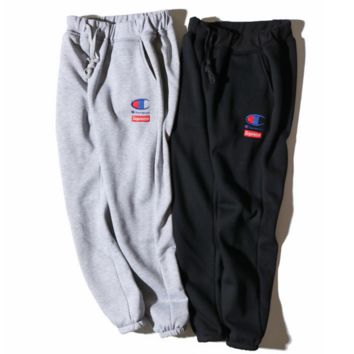 Champion Men Fashion Casual Print Sport Stretch Pants Trousers Sweatpants