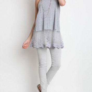In Love with Layering Tank in Grey