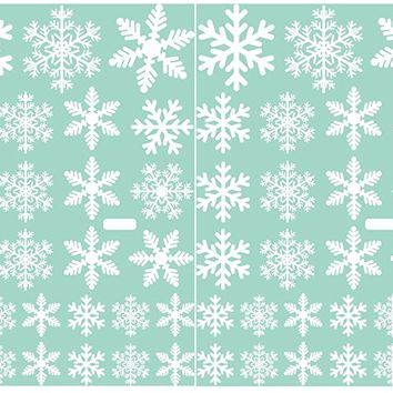 108 pcs White Snowflakes Window Clings Decal Stickers Christmas Decorations Ornaments Party Supplies 4 Sheets