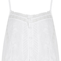 Cotton Lace Strap Top - Tops - Clothing - Topshop