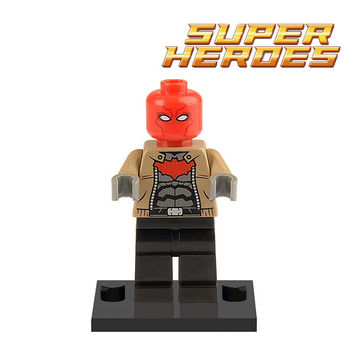 New Single Sale Red Hood Minifigures DC Marvel Avengers Superheroes Batman Building Blocks kids Bricks Education Learning Toys