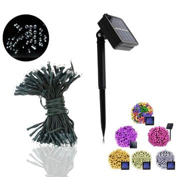 50/100/200 LED Solar Powered Lamp String Lights Holiday Party Lighting Led Fairy Christmas Tree Garland Wedding Party Decoration