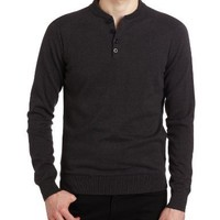 Ben Sherman Men's 4 Button Henley Sweater