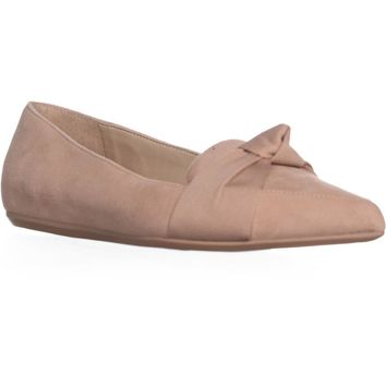 Franco Sarto Adrianni Pointed Toe Loafers, Peach, 7.5 US / 37.5 EU
