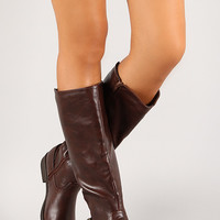 Split Back Ankle Belt Knee High Riding Boot