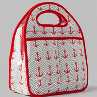 ANCHOR PRINTED INSULATED LUNCH TOTE