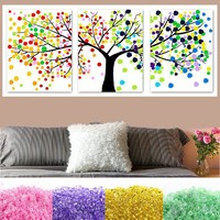 beaded embroidery DMC counted cross stitch  triptych tree