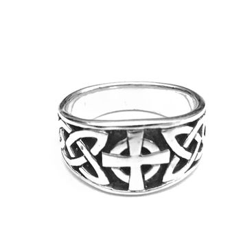 Celtic Cross Ring, Celtic Knot Ring, Sterling Silver Celtic Ring, Celtic Jewelry, Celtic Design, Celtic Knot Ring, Gifts for Her