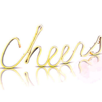 Neon LED Lit CHEERS Sign