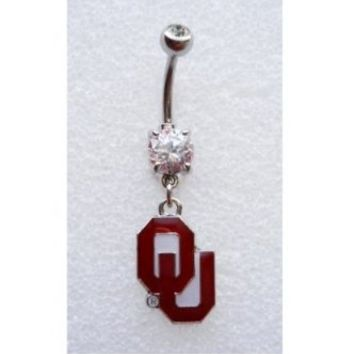 OU UNIVERSITY OF OKLAHOMA SOONERS Navel Belly Button Ring Body Jewelry Piercing