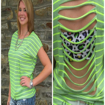 Slice of Life Top -- Green
