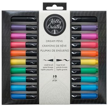 Kelly Creates Dual-Tip Dream Brush Pens, Rainbow