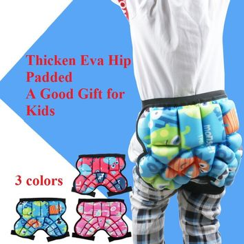 Outdoor Sports Children Kids Skate Snowboarding Hip Protector Skiing Skating Protective Hip Padded Shorts Roller Learner 3-8Y