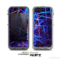The Neon Glowing Strobe Lights Skin for the Apple iPhone 5c LifeProof Case