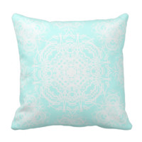 Vintage Damask Style Floral Patterned Throw Pillow