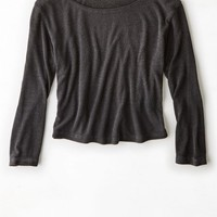 AEO Women's Don't Ask Why Ribbed Ballet T-shirt