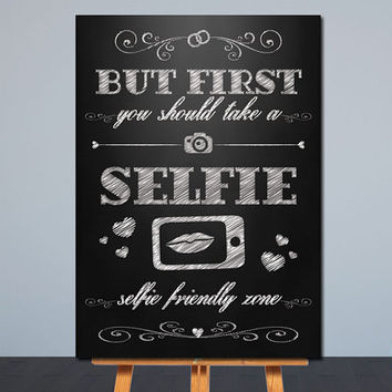 Printable Wedding Sign | Selfie Station Sign | Chalkboard | Card Table Sign | 2 sizes 8x10, 5x7 | Instant Download | Signage,Decor | JPG |