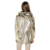 Reflective Gold Hooded Jacket
