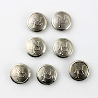 Vintage set of Northern Pacific Railroad Conductor Button Covers, Silver Button Covers, NPRR