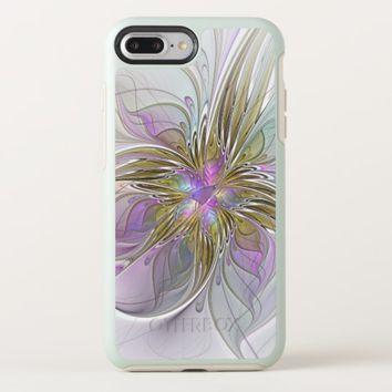 Floral Colorful Abstract Fractal With Pink & Gold OtterBox Symmetry iPhone 8 Plus/7 Plus Case