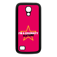 Celebrity Hater Black Silicon Rubber Case for Galaxy S4 Mini by Chargrilled
