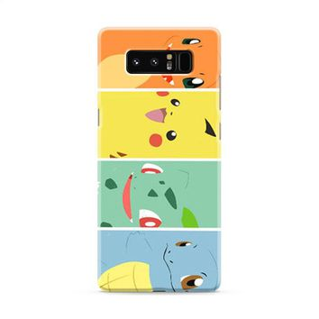 Bulbasaur Squirtle And Charmander Pikachu Samsung Galaxy Note 8 Case