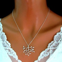 Tree of Life Necklace Sterling Silver Bridesmaid Gift Birthday - Wedding Jewelry | Handmade Jewelry
