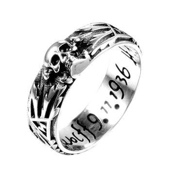 devil punk skull ring stainless steel vintage ring for men titanium steel drop shipping jewelry