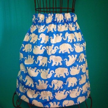 Custom Lilly Pulitzer Tusk In Sun Elephant Skirt