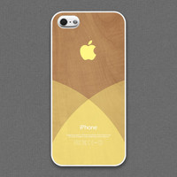iPhone 5 / 5s Case - Clear pastel yellow layered on wood pattern,iPhone Case, iPhone5 Case, Cases for iPhone5, iPhone5s Case
