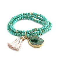 Heart and Soul Bracelet in Turquoise with Green Agate