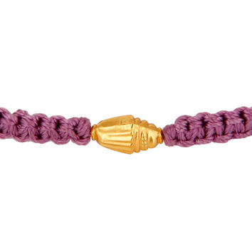 Macrame Patterns Fashion Bracelets With 18K Solid Yellow Gold Bead Finding