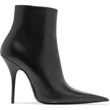 ONETOW balenciaga leather ankle boots 2