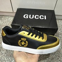 GUCCI Women Fashion Bee Old Skool Sneakers Sport Shoes