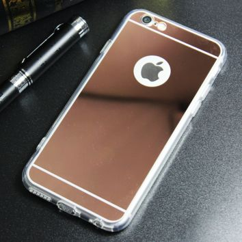 Gold Tone Mirror Case for iPhone