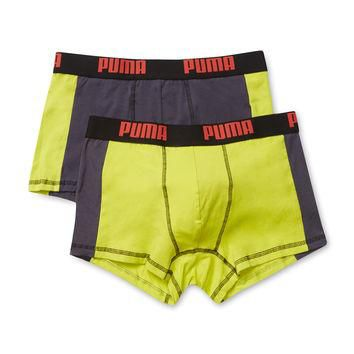 Puma Underwear Men's Color Block Underwear Trunks - Green