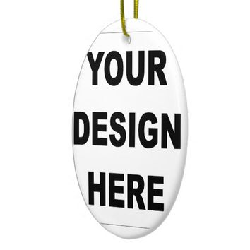 Create Your Own Custom Ceramic Oval Ornament