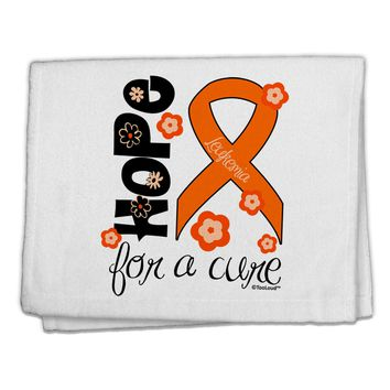 "Hope for a Cure - Orange Ribbon Leukemia - Flowers 11""x18"" Dish Fingertip Towel"