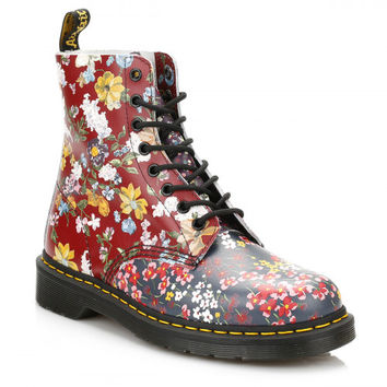 best floral dr martens products on wanelo. Black Bedroom Furniture Sets. Home Design Ideas