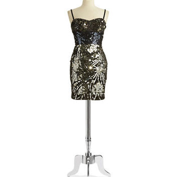Julian Joyce Sleeveless Sequin Gown