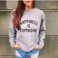 Letter Print Cashmere Sweater