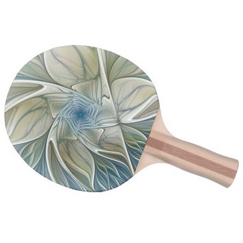 A Floral Dream Pattern Abstract Fractal Art Ping Pong Paddle