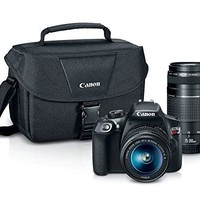 Canon EOS Rebel T6 Digital SLR Camera Kit with EF-S 18-55mm and EF 75-300mm Zoom Lenses (Black)