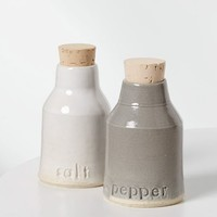 Vitrified Studio Salt + Pepper Set