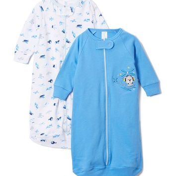 Blue Helicopter Sleeping Sack Set - Infant