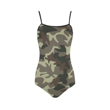 Camo Brown Strap Swimsuit